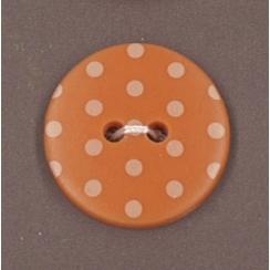Bouton Frou-Frou Douceur mandarine à pois jaune clair