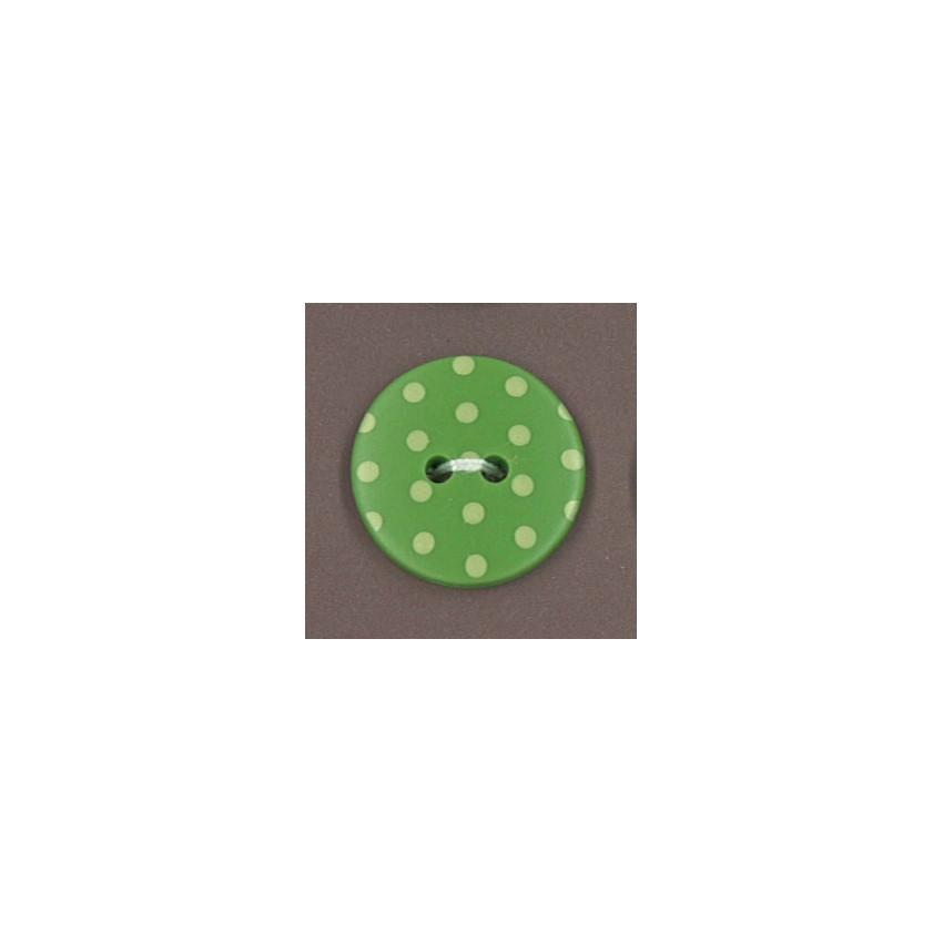 Bouton Jardin d'oliviers à pois vert clair par Paritys. Scrapbooking et loisirs créatifs. Livraison rapide et cadeau dans cha...