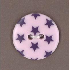 Bouton Frou-Frou Prune délicate à étoiles violet foncé