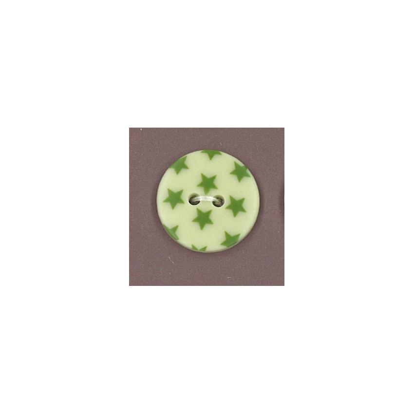 Bouton Jardin d'oliviers à étoiles vert foncé par Paritys. Scrapbooking et loisirs créatifs. Livraison rapide et cadeau dans ...