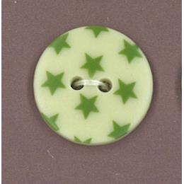 Bouton Frou-Frou Jardin d'oliviers à étoiles vert foncé