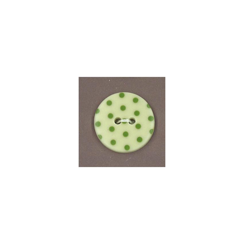 Bouton Frou-Frou Jardin d'oliviers vert à pois vert clair