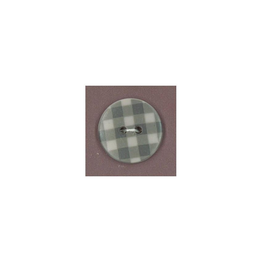 PROMO de -50% sur Bouton Taupe motif Vichy gris Paritys