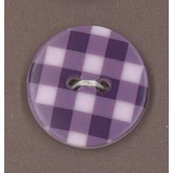 Bouton Prune délicate motif Vichy violet par Paritys. Scrapbooking et loisirs créatifs. Livraison rapide et cadeau dans chaqu...