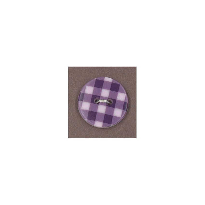 Bouton Frou-Frou Prune délicate à pois violet foncé sur fond clair