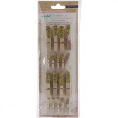 Parfait pour créer : Pinces à linge en bois GLITTER par Crate Paper. Livraison rapide et cadeau dans chaque commande.