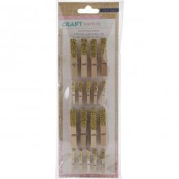Pinces à linge en bois GLITTER