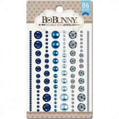 Strass et perles bleus BLUE HUES par Bo Bunny. Scrapbooking et loisirs créatifs. Livraison rapide et cadeau dans chaque comma...