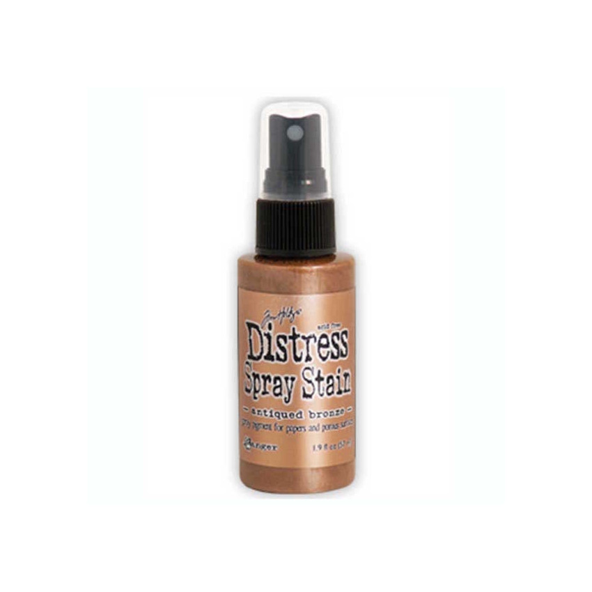 Encre en spray Distress Stain ANTIQUED BRONZE