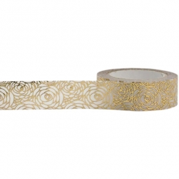 Masking tape FLEURS OR