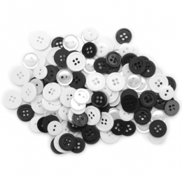 Sachet de boutons BLACK & WHITE