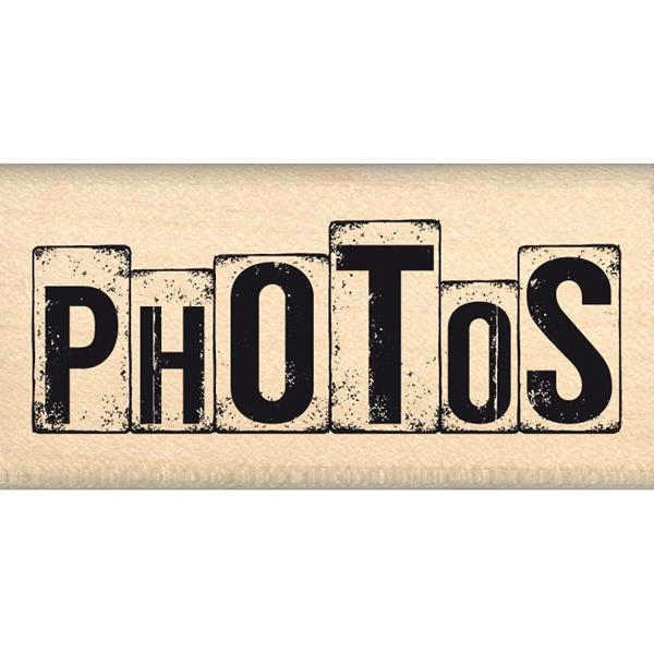 "Tampon bois ""DÉS"" PHOTOS"