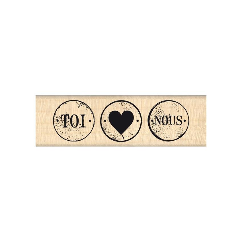 Tampon bois TROIS PETITS RONDS