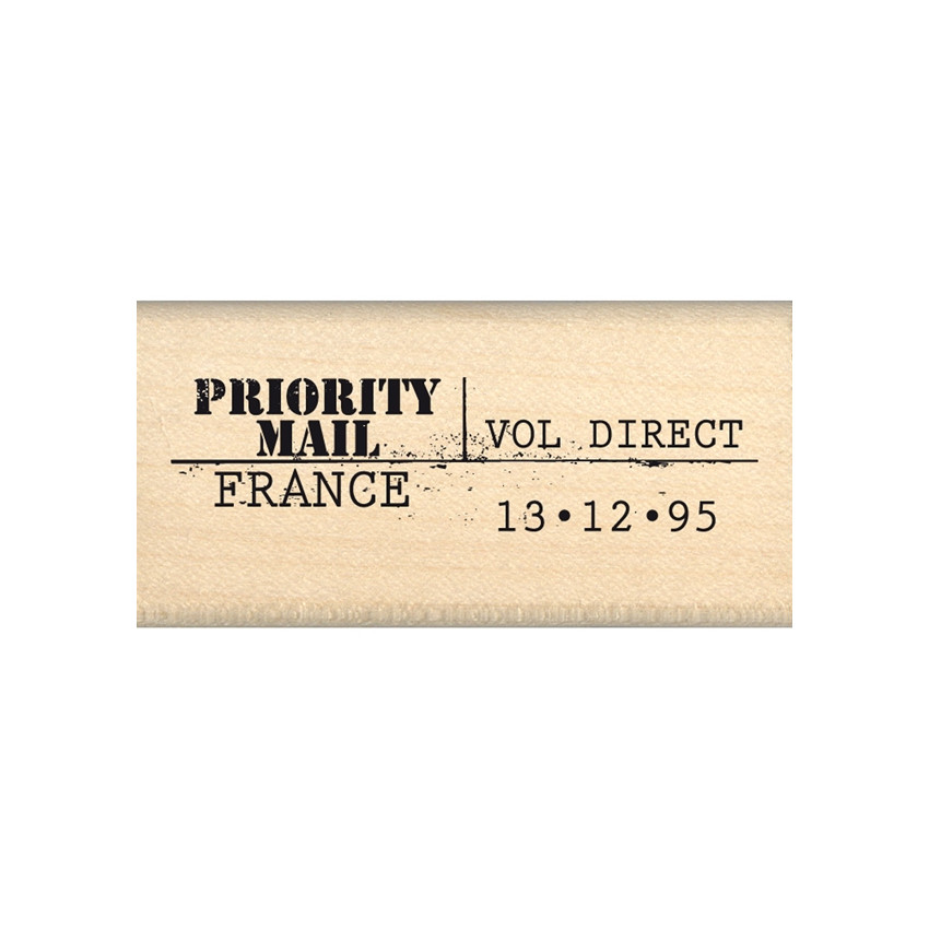 Tampon bois PRIORITY MAIL