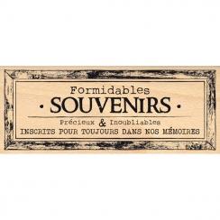 Tampon bois CADRE SOUVENIRS POUR TOUJOURS par Florilèges Design. Scrapbooking et loisirs créatifs. Livraison rapide et cadeau...