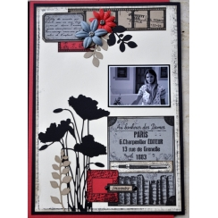 Tampon bois ÉTIQUETTE D'ÉCOLIER par Florilèges Design. Scrapbooking et loisirs créatifs. Livraison rapide et cadeau dans chaq...