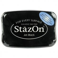 Encre Stazon JET BLACK par Tsukineko. Scrapbooking et loisirs créatifs. Livraison rapide et cadeau dans chaque commande.