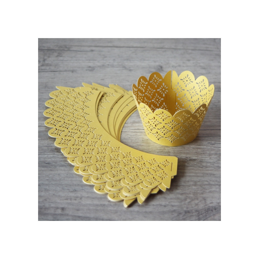 PROMO de -80% sur Collerettes à cupcakes dentelle orOK Cook and Gift