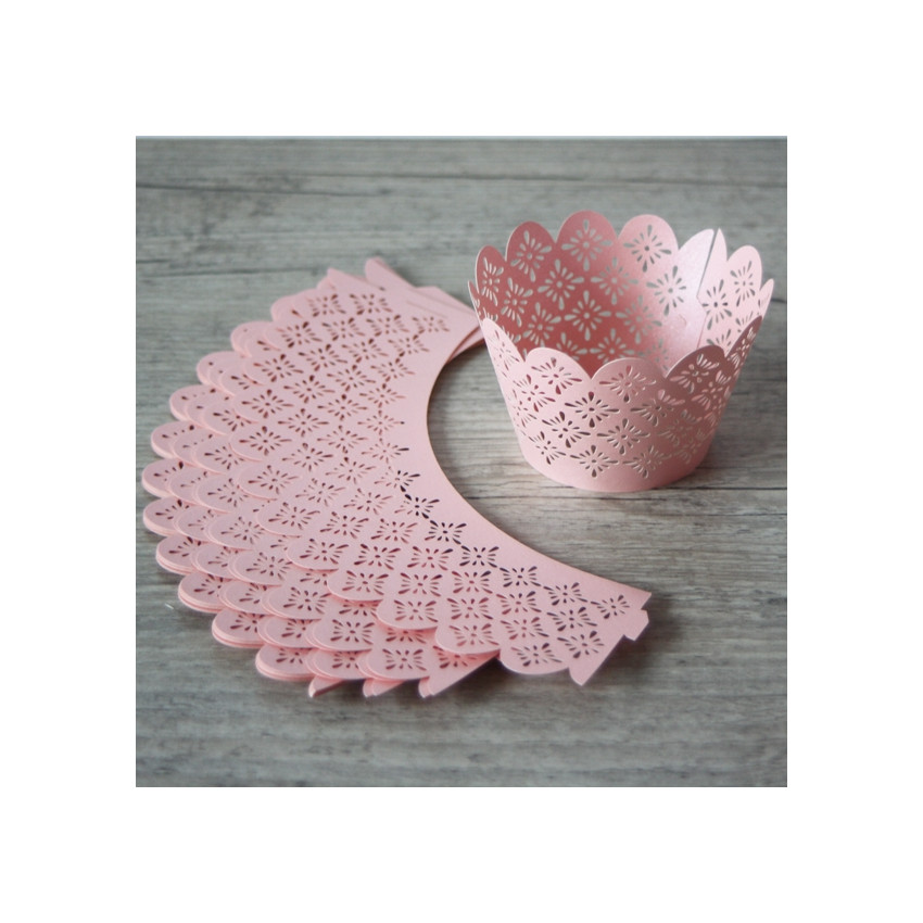 PROMO de -50% sur Collerettes à cupcakes dentelle rose Cook and Gift