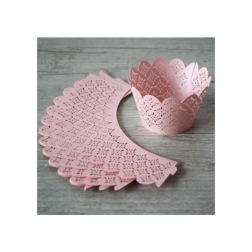 PROMO de -60% sur Collerettes à cupcakes dentelle rose Cook and Gift