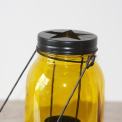 Lanterne bocal jaune par . Scrapbooking et loisirs créatifs. Livraison rapide et cadeau dans chaque commande.
