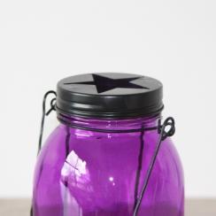 Commandez Lanterne bocal violet . Livraison rapide et cadeau dans chaque commande.