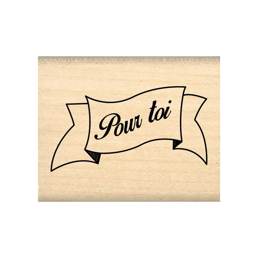 Tampon bois POUR TOI par In Spirit. Scrapbooking et loisirs créatifs. Livraison rapide et cadeau dans chaque commande.