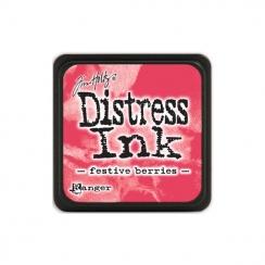 Encre Mini Distress FESTIVE BERRIES par Ranger. Scrapbooking et loisirs créatifs. Livraison rapide et cadeau dans chaque comm...