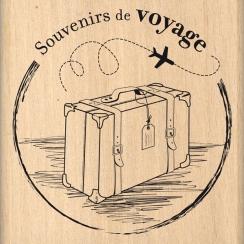 Tampon bois SOUVENIRS DE VOYAGE par Florilèges Design. Scrapbooking et loisirs créatifs. Livraison rapide et cadeau dans chaq...