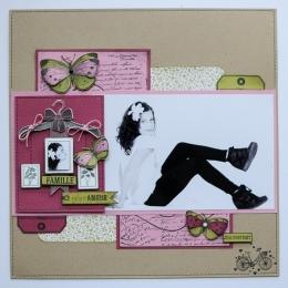 Tampon bois JOLI PAPILLON par Florilèges Design. Scrapbooking et loisirs créatifs. Livraison rapide et cadeau dans chaque com...