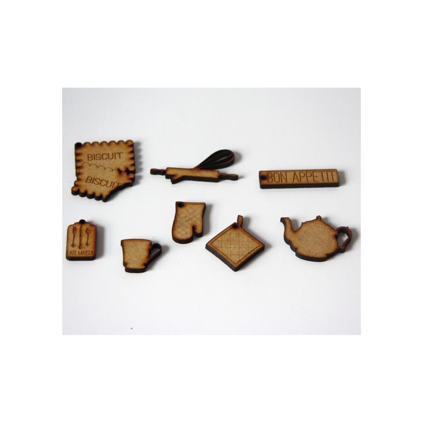 PROMO de -60% sur Embellissements bois DANS MA CUISINE Florilèges Design