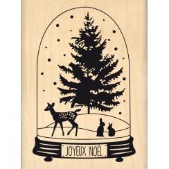 Tampon bois GLOBE DE NOËL par Florilèges Design. Scrapbooking et loisirs créatifs. Livraison rapide et cadeau dans chaque com...