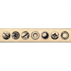 Tampon bois BORDURE DE VIS par Florilèges Design. Scrapbooking et loisirs créatifs. Livraison rapide et cadeau dans chaque co...