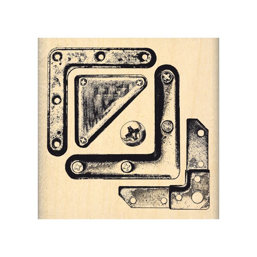 Commandez Tampon bois COINS MÉTAL Florilèges Design. Livraison rapide et cadeau dans chaque commande.