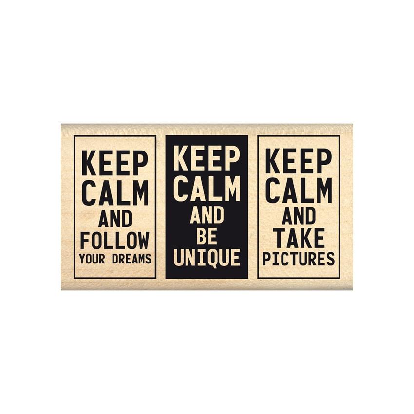 Tampon bois BE UNIQUE par Florilèges Design. Scrapbooking et loisirs créatifs. Livraison rapide et cadeau dans chaque commande.