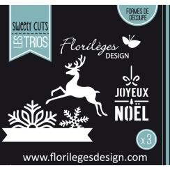 Outil de découpe FLOCONS DE NOËL par Florilèges Design. Scrapbooking et loisirs créatifs. Livraison rapide et cadeau dans cha...