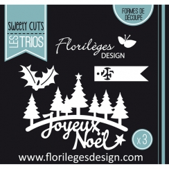 Outil de découpe SAPINS DE NOËL par Florilèges Design. Scrapbooking et loisirs créatifs. Livraison rapide et cadeau dans chaq...