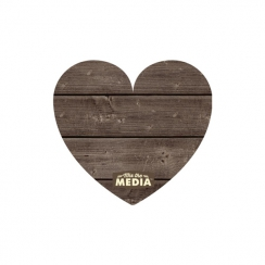 HEART     -MIX MEDIA PLANK PLQE