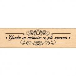 Tampon bois SOUVENIR FLOURISH par Florilèges Design. Scrapbooking et loisirs créatifs. Livraison rapide et cadeau dans chaque...