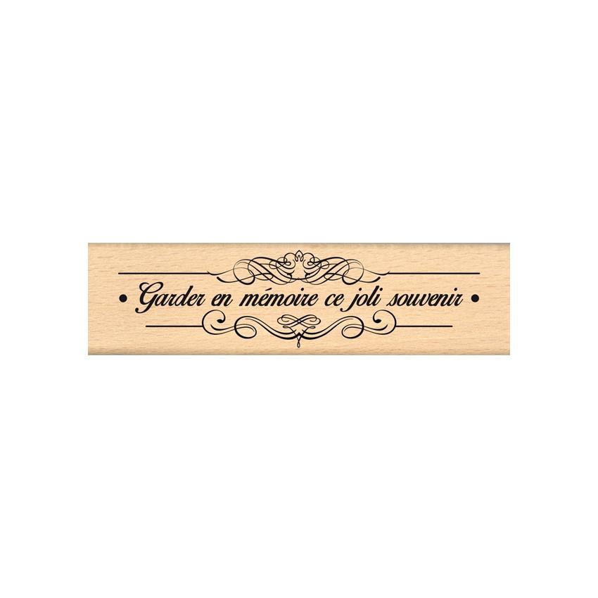 Tampon bois SOUVENIR FLOURISH