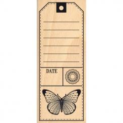 Tampon bois TAG AU PAPILLON par Florilèges Design. Scrapbooking et loisirs créatifs. Livraison rapide et cadeau dans chaque c...
