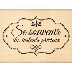 Tampon bois PRÉCIEUSE ÉTIQUETTE par Florilèges Design. Scrapbooking et loisirs créatifs. Livraison rapide et cadeau dans chaq...