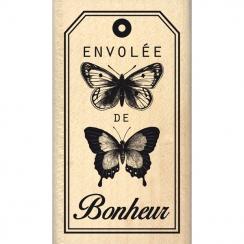 Tampon bois ENVOLÉE DE BONHEUR