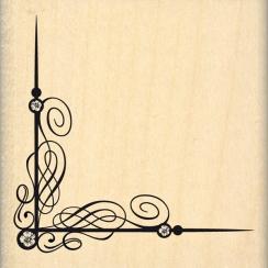 PROMO de -30% sur Tampon bois ANGLE FLOURISH Florilèges Design