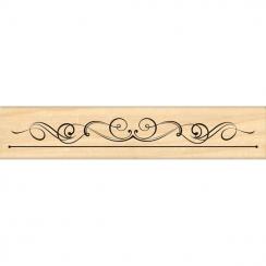 PROMO de  sur Tampon bois BORDURE FLOURISH Florilèges Design