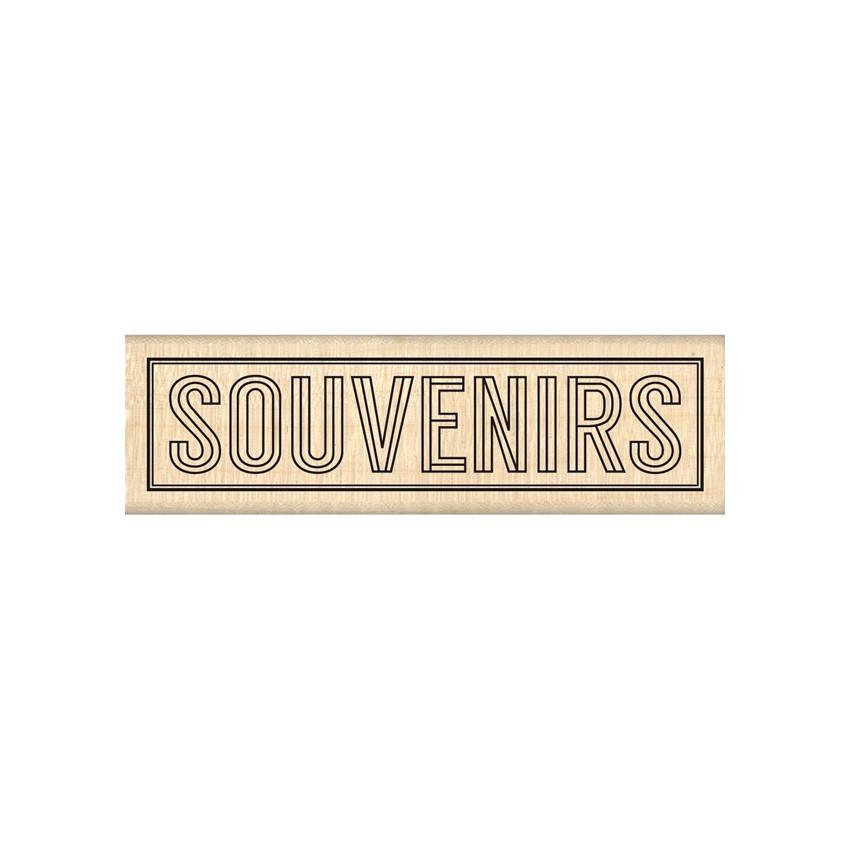 PROMO de -40% sur Tampon bois BLOC SOUVENIRS