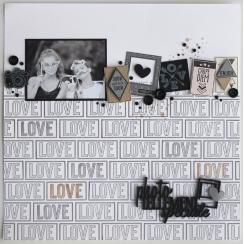 Tampon bois BLOC LOVE par Florilèges Design. Scrapbooking et loisirs créatifs. Livraison rapide et cadeau dans chaque commande.