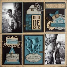 Tampon bois BLOC SOUVENIRS par Florilèges Design. Scrapbooking et loisirs créatifs. Livraison rapide et cadeau dans chaque co...