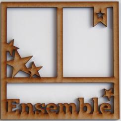Cadre 15 x15 cm ENSEMBLE par In Spirit. Scrapbooking et loisirs créatifs. Livraison rapide et cadeau dans chaque commande.