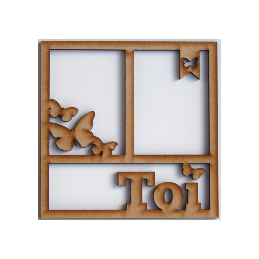 Cadre 15 x 15 cm TOI PAPILLONS